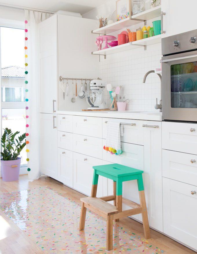 Colorful Baking Kitchen + Baking Supply Organizing Ideas.